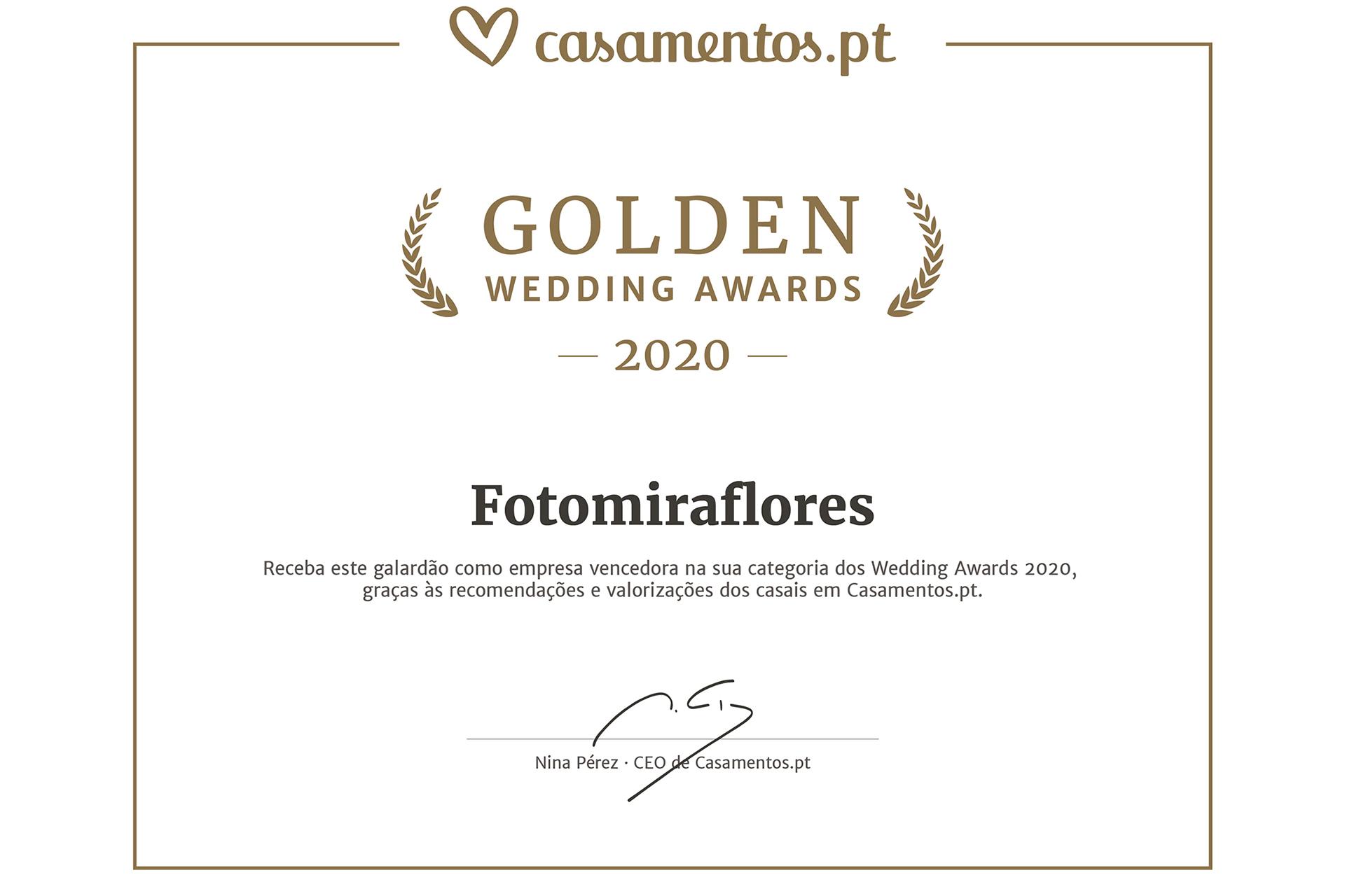 Vencedores do Golden Wedding Awards 2020